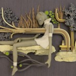 Abstract fantasy Clay art by American artist Meredith Dittmar