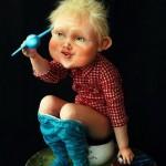 Handmade dolls by Russian artists of applied art, twin sisters Anna and Maria Kolegova