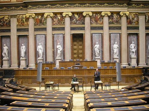 Debating Chamber of the former House of Deputies Reichsrat Vienna