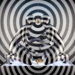 Black and white circles. Digital abstract art by Adam Martinakis