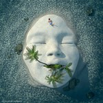 Earth face. Digital abstract art by Adam Martinakis