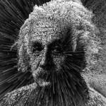 Albert Einstein. Digital abstract art by Adam Martinakis