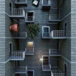 Empty house. Digital abstract art by Adam Martinakis