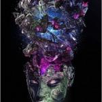 Tribal woman. Digital painting of British self-taught artist Nik Ainley