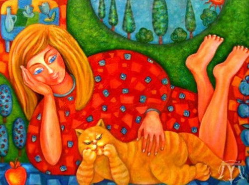 Dreaming. Painting by Russian artist Marina Hintse