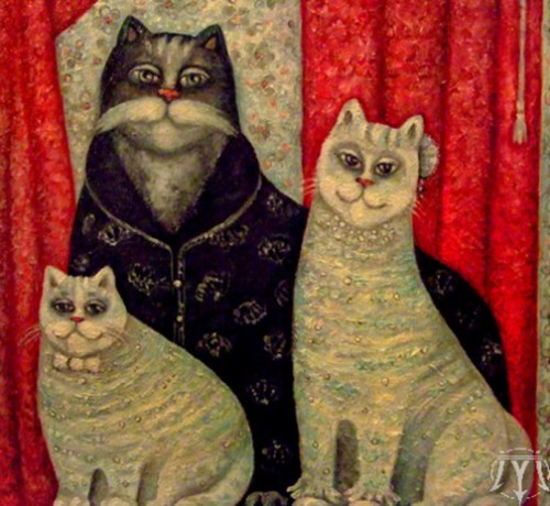 Family portrait. Painting by Russian artist Marina Hintse