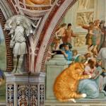 Somewhere in a church Fat cat Zarathustra in art