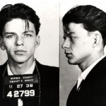 Frank Sinatra, arrested by the Bergen County, New Jersey sheriff in 1938 and charged with carrying on with a married woman