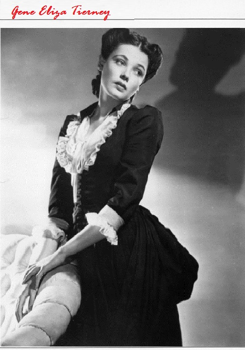 Gene Eliza Tierney (November 19, 1920 – November 6, 1991)