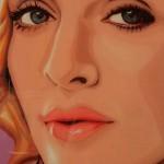 """Madonna. From the series of """"Gum Blondes"""". Bubblegum portrait by Canadian artist Jason Kronenwald"""