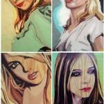 "Series of portraits ""Gum Blondes"". Bubblegum portrait by Canadian artist Jason Kronenwald"