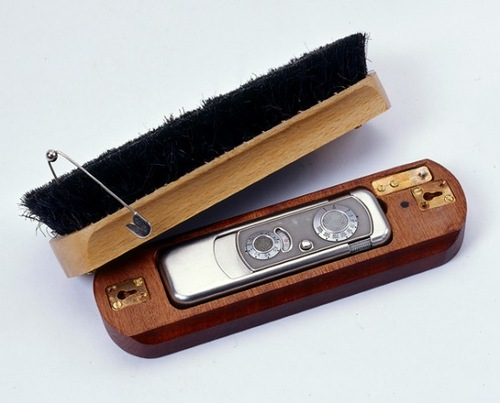 Made in the USSR Spy toys of KGB. Hairbrush Concealment for Minox Camera. 1960s-1970s, HVA