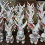 Rabbits. Handmade Dolls by Ukrainian artist of applied art Anna Lysenko