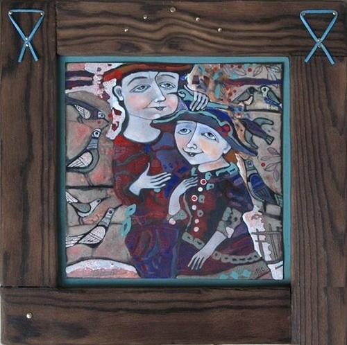 Decorative hot enamel art by Russian artist Tatiana Sipovich
