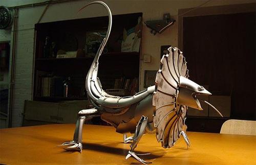 Hubcap creatures by Ptolemy Elrington