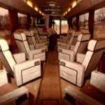 A coach used for longer-distance
