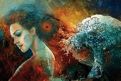 Illustration by Czech artist Ladislav Hubert