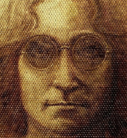 John Lennon. Bullet portraits by David Palmer
