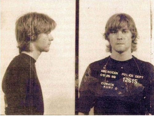 Kurt Cobain. Celebrities Mug Shots