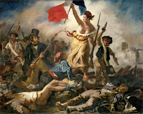 Liberty Leading the People, painting by Eugene Delacroix commemorating the French July Revolution of 1830