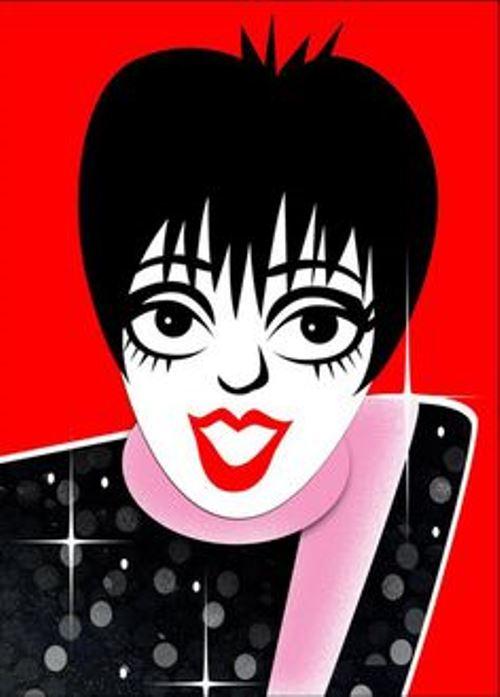 Liza Minnelli. Caricatures of celebrities by American artist Robert Risko