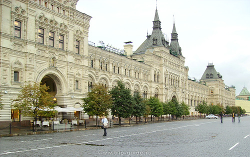 Main Department Store in Moscow, our time