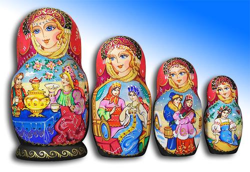 Russian matryoshka by Tatiana Ulianova