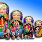 Mytishchi Matryoshka doll, set of 15 pieces, painted by Russian artist of applied art by Tatiana Ulyanova