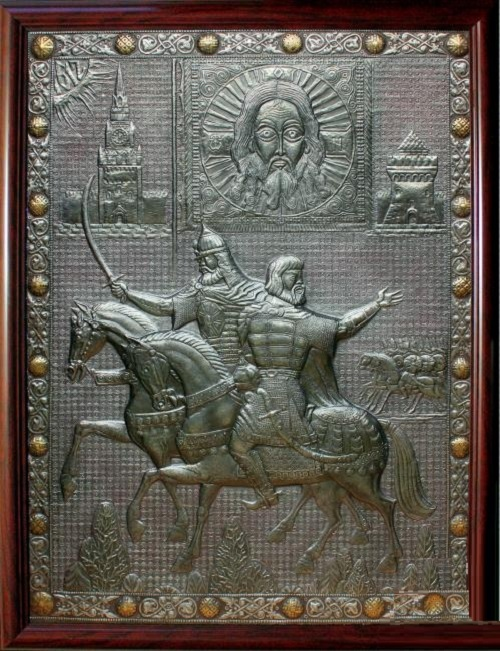 Minin and Pozharsky (diptych of 'Glory of Nizhny Novgorod')