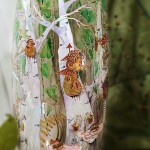 Trees. Glassart fantasy - painting on glass by Russian artist of applied art Oksana Vasilyeva