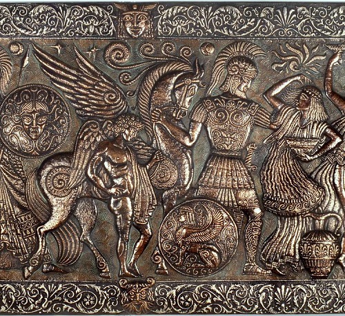 Panel 'Heroes of Hellas Ancient Myths' (fragment)