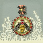 A bee. Beautiful Paper art by American artist Elsa Mora