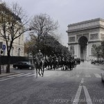 1940 and 2010 Paris. The city began to live by the laws of the Nazi and Berlin time. German cavalry in the streets of the occupied city