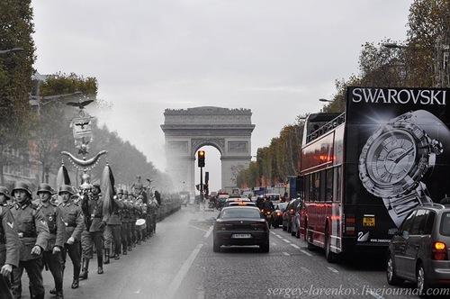Paris, 1940. Parade of occupants- Paris, 2010