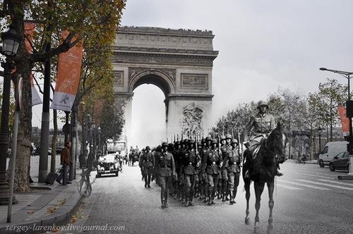 Paris 1940. The Wehrmacht at Place de la Concorde - Paris, 2010