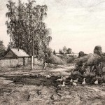 Pen ink drawings by Rustem Kuramshin