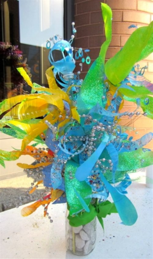 Recycled Plastic by American glass artist Dale Wayne