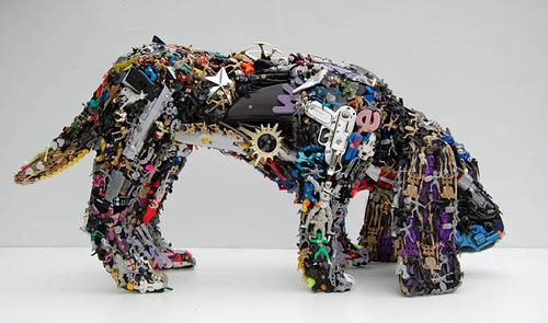 Recycled Toy Sculptures by Robert Bradford