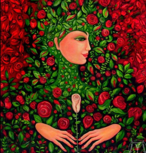 Roses. Painting by Russian artist Marina Hintse