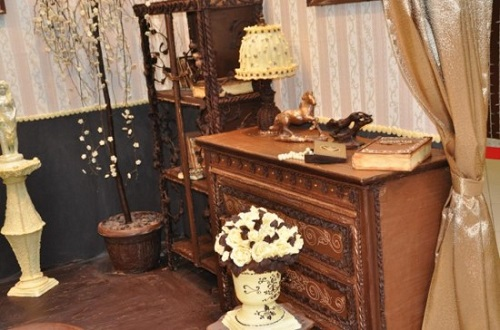 Chocolate room by Russian sculptor Elena Climent
