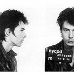 Sid Vicious, bassist for the Sex Pistols, arrested by New York police for the October 1978 murder of girlfriend Nancy Spungen
