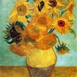 Still Life. Vase with Twelve Sunflowers