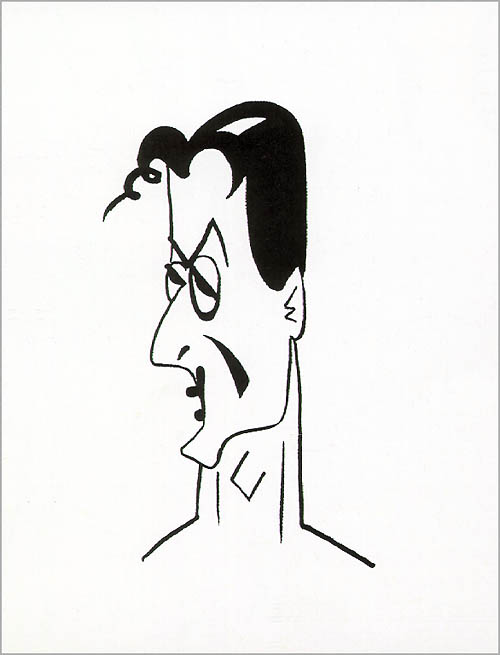 Sylvester Stallone. Caricatures by Robert Risko