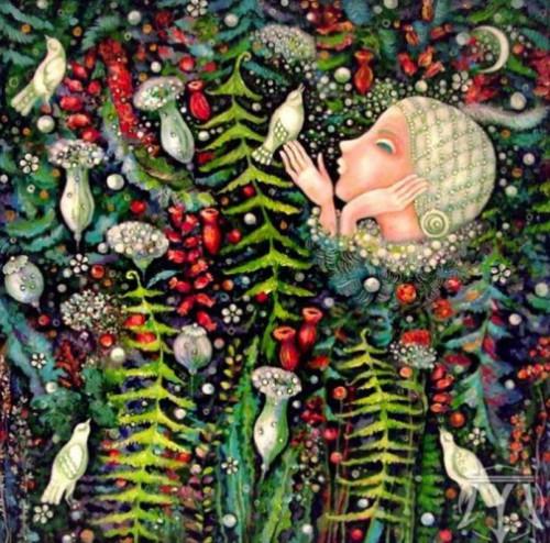 Talk. Painting by Russian artist Marina Hinze