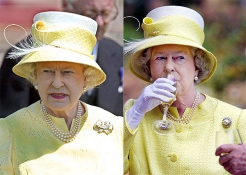 The Queen of hats Elizabeth II