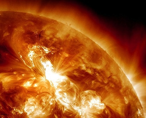 The ultimate energy source of the aurora is the solar wind flowing past the Earth