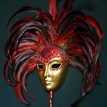 Dark red Carnival Mask