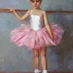 Little ballerina. Painting by Vladislav Nagornov