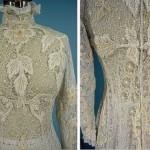 Floral motif lace wedding dress, 1908