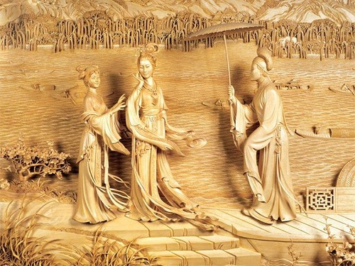 Wood carving from China